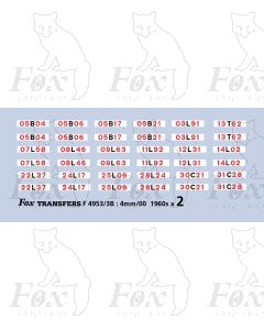 Freightliner container numbers