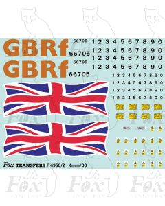 GBRf Class 66 66705 Union Flag Complete Loco Elements