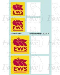 EWS Class 60 and Class 92 vinyl facsimile transfers