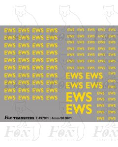EWS Freight Vehicle Lettering