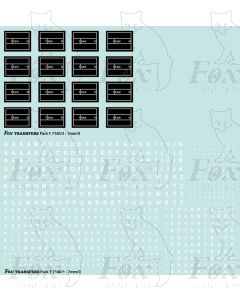 Freight vehicle Data Panels (white/black)