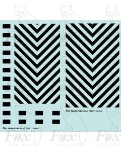 Loco Shunter Chevrons (wasp stripes)