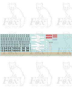 Original Railfreight Grey Livery for Loco Classes 20, 26, 27, 31, 37