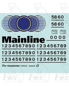 Mainline Freight Logos/Detailing Class 58/60