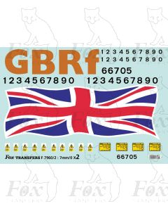 GBRf 66705 Union Flag Complete Loco Elements