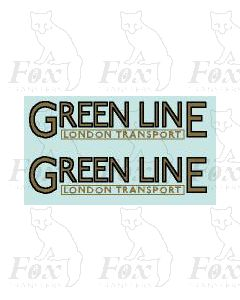 FLEET NAME - GREENLINE LONDON TRANSPORT