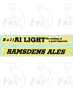Roll A1 LIGHT The making of a good cigarette RAMSDENS ALES