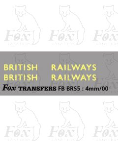 BRITISH RAILWAYS large lettering for van sides