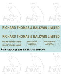 RICHARD THOMAS BALDWIN LTD