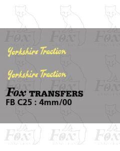 FLEETNAMES - Yorkshire Traction (script)