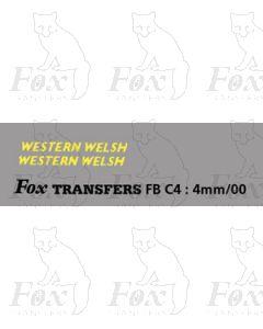 FLEETNAMES - WESTERN WELSH