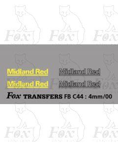 FLEETNAMES - MIDLAND RED