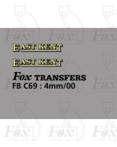 FLEETNAMES - EAST KENT (13mm wide)