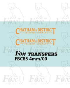 FLEETNAMES - CHATHAM & DISTRICT TRACTION COMPANY