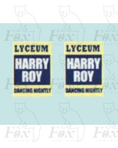 Advertisement 1930s, 1940s & 1950s - LYCEUM HARRY ROY DANCING NIGHTLY