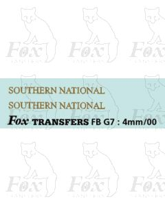 FLEETNAMES - SOUTHERN NATIONAL