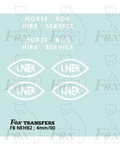 HORSE BOX LETTERING SETS - L.N.E.R