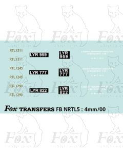 3 Green RTL 1311, 1245, 1290 - Legal Lettering Set