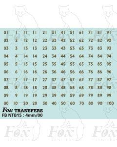 TROLLEYBUS FLEET NUMBERS - 1-100 plain gold
