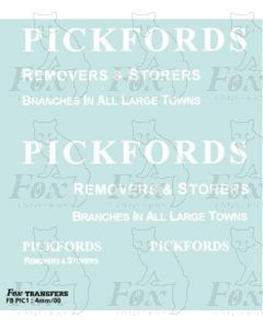 PICKFORDS Furniture van set - include headboards