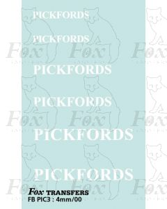 PICKFORDS White names, 3 sizes - include headboards