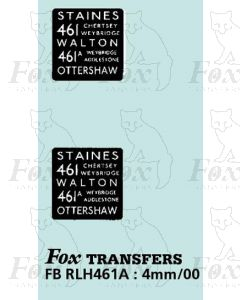 DESTINATION SCREENS - STAINES - WALTON OTTERSHAW
