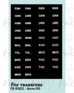Numberplate letters - EAST MIDLAND