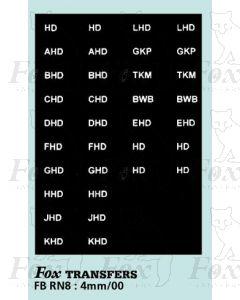 Numberplate letters - YORKSHIRE WOOLLEN