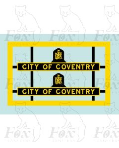 46240 CITY OF COVENTRY (crested)