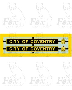 6240 CITY OF COVENTRY (with crests)