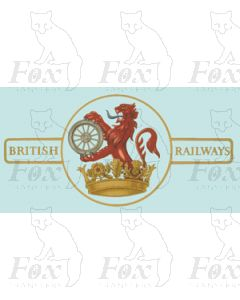 BR later Lion & Wheel (Ferret & Dartboard) Loco Crest - Small