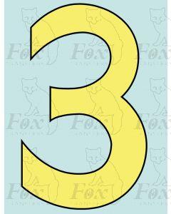 8 inch Cabside Numbering