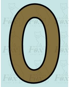 Running Numbering Metallic Gold/Black outline - 4 inch