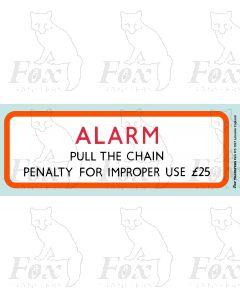 BR Alarm sign