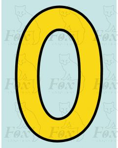 Running Numbering Yellow/Black outline - 4 inch