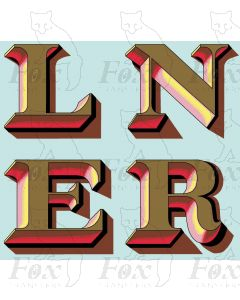 LNER Teak Coach Markings - LNER