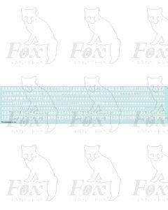 Alphabet in white - Franklin Heavy, 5mm