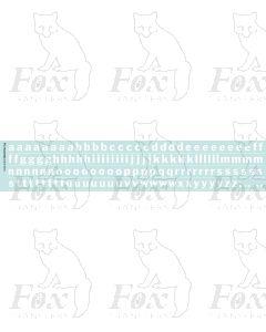 Alphabet in white - Franklin Heavy, 10mm