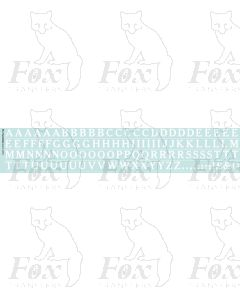 Alphabet in white - Cheltenham Medium, 10mm
