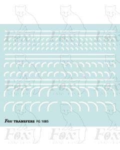 Corners in white - Radius Corners, 3 sizes