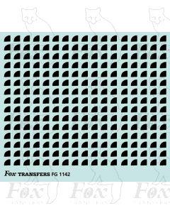 Corners in black - Small-Radius corners 2.5mm