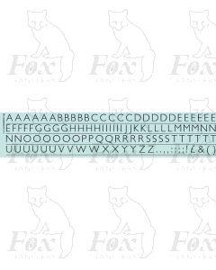Alphabet in black - Gill Light, 10mm