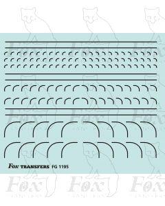 Corners in black - Radius Corners, 3 sizes 0.35mm