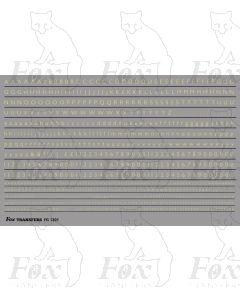 Alphabet in off-white (straw) - Gill Light, 2mm & 1mm