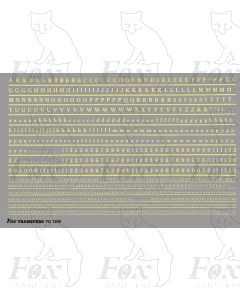 Alphabet in off-white (straw) - Cheltenham Medium, 2mm & 1mm
