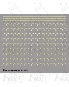 Corners in off-white (straw) -  Medium-Radius 0.35mm