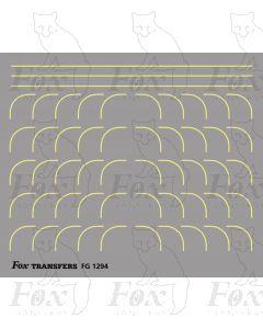 Corners in off-white (straw) - Large-Radius 0.35mm