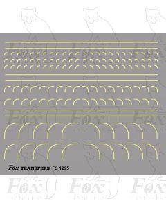 Corners in off-white (straw) - Radius Corners, 3 sizes 0.35mm