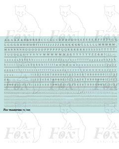 Alphabet in silver - Cheltenham Medium, 2mm & 1mm