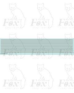 Lining in silver - Medium lines, 298mm x 0.75mm